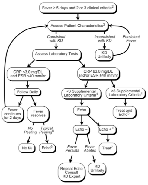 Kawasaki Disease clinical decision pathway